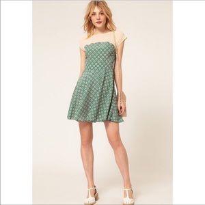 ASOS skater dress in daisy print. Like new!